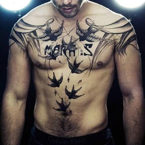 tatouage torse réaliste