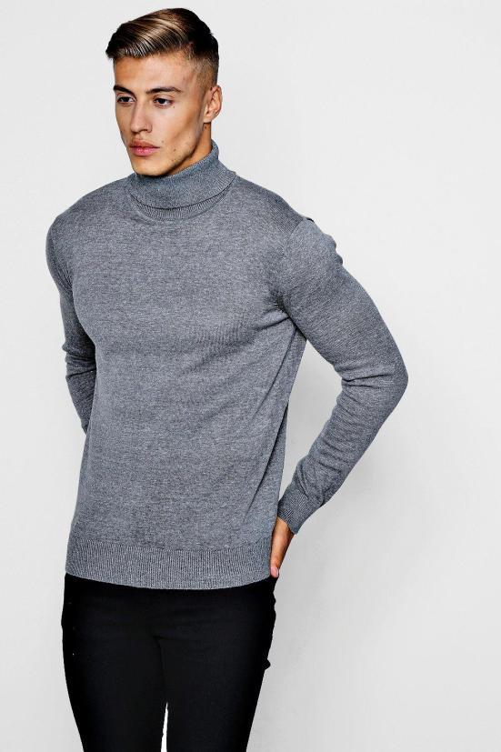 Col roulé tricoté | Avoir un style minimaliste pour Homme