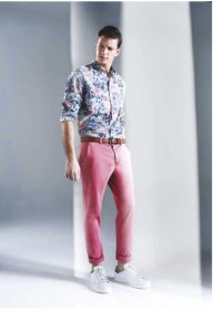 pantalon homme rose One step