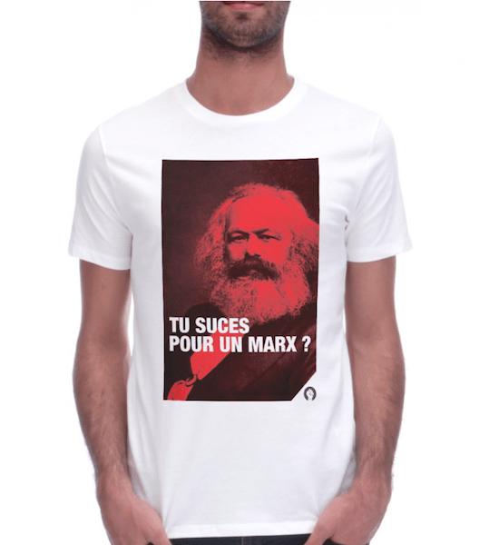 monsieur t-shirt fist et lettres Marx