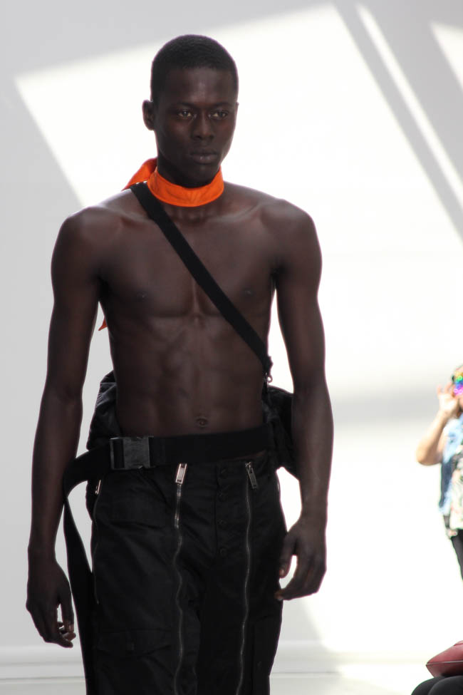 black model shirtless