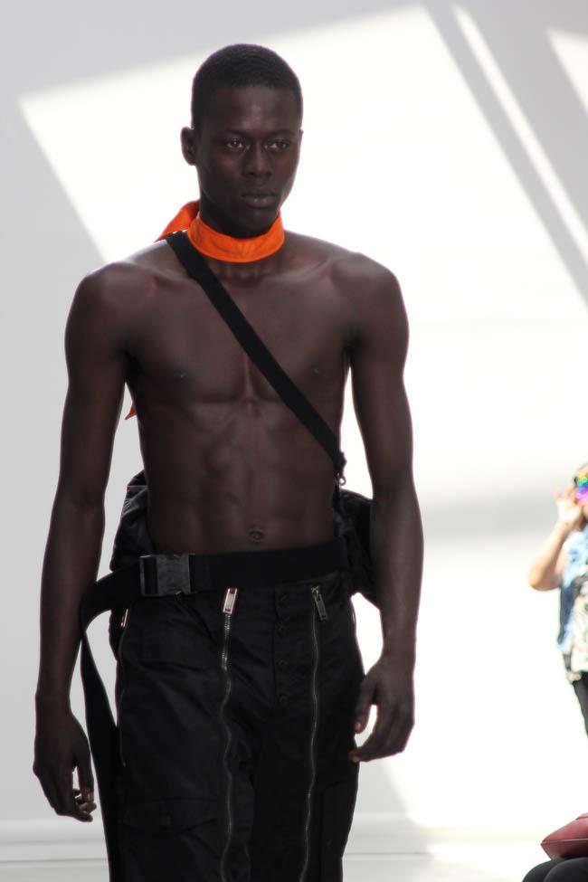 black model shirtless