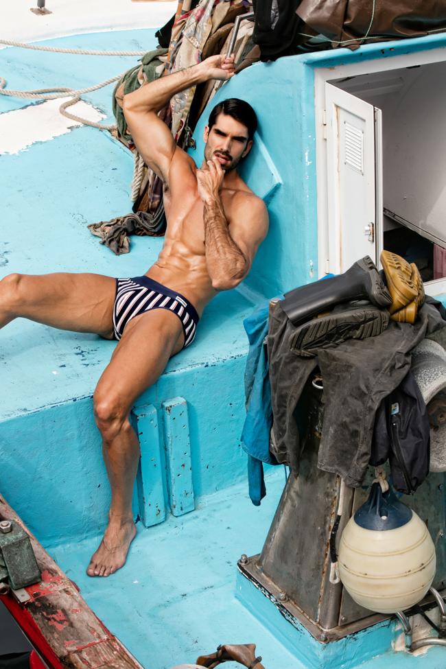 Maillot de bain homme à rayures