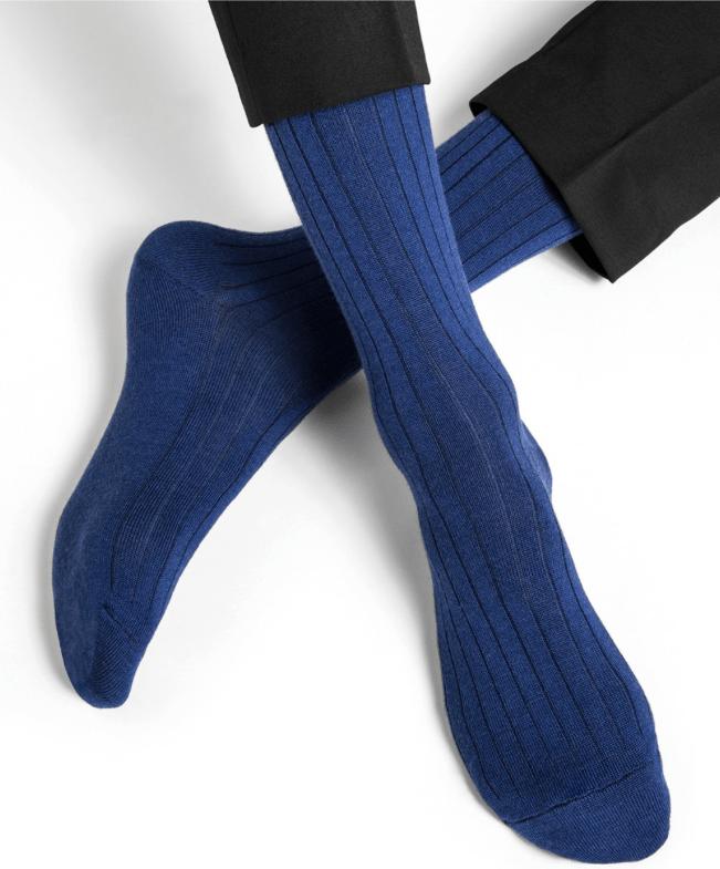 chaussettes bleues homme bleu foret