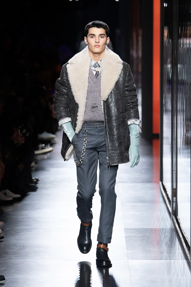 blouson shearling Dior homme automne hiver 2020 - 2021