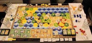 Endstand des Spiels Siedler Szenario Troja. Grün hat gewonnen.