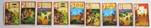 Alle neun Karten des Forscher-Spielers im Spiel Raptor aus dem Hause Pegasus