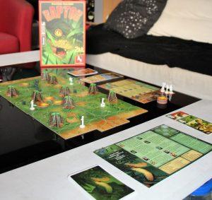Spielaufbau des Spiels Raptor aus dem Hause Pegasus