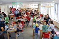 Blick auf Spieltische von Aschaffenburg spielt