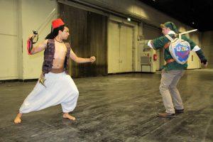 Aladdin und Zelda kämpfen