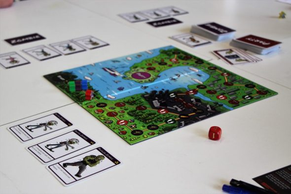 Das Spiel Zombie-Polonaise von Mangohuhn