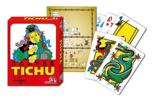 Verpackung, Wertungstafel und Karten aus Tichu | Bildquelle Abacusspiele