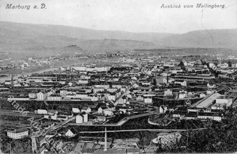 Pogled iz Meljskega hriba v času AO