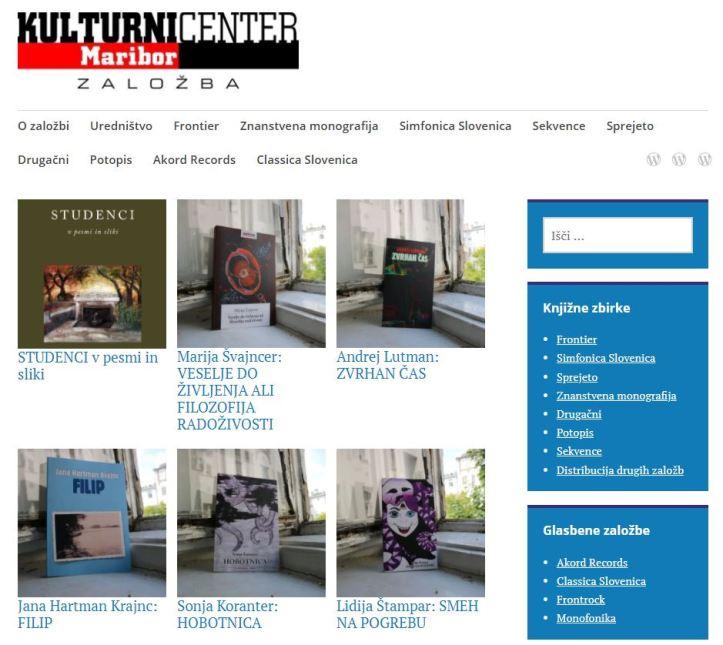 Spletna stran založbe KC Maribor