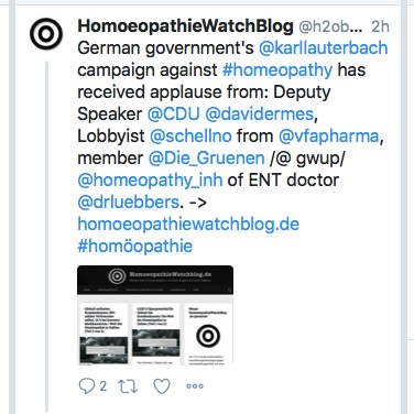 Twitter und Homöopathie