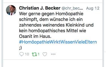 tweet 1 homöopathie