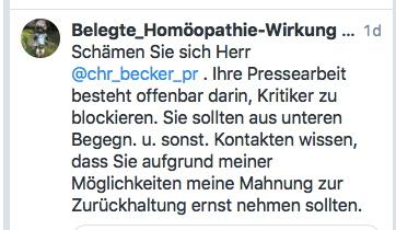 DZVhAe-Sprecher Björn Bendig meldete: Natalie Grams fügt Homöopathie keinen Schaden zu (12 Beispiele seiner PR-Arbeit)