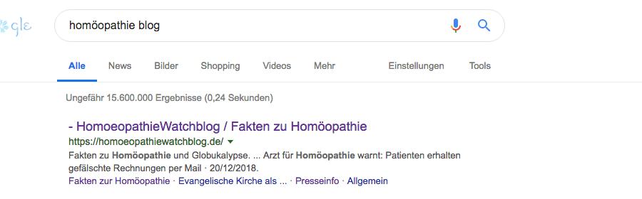 homöoopathie google