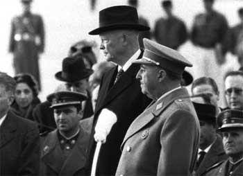 Franco y Dwight Eisenhower en 1959