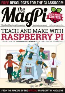 Εξώφυλλο MagPi, τεύχος 2 έκδοση για εκπαιδευτικούς