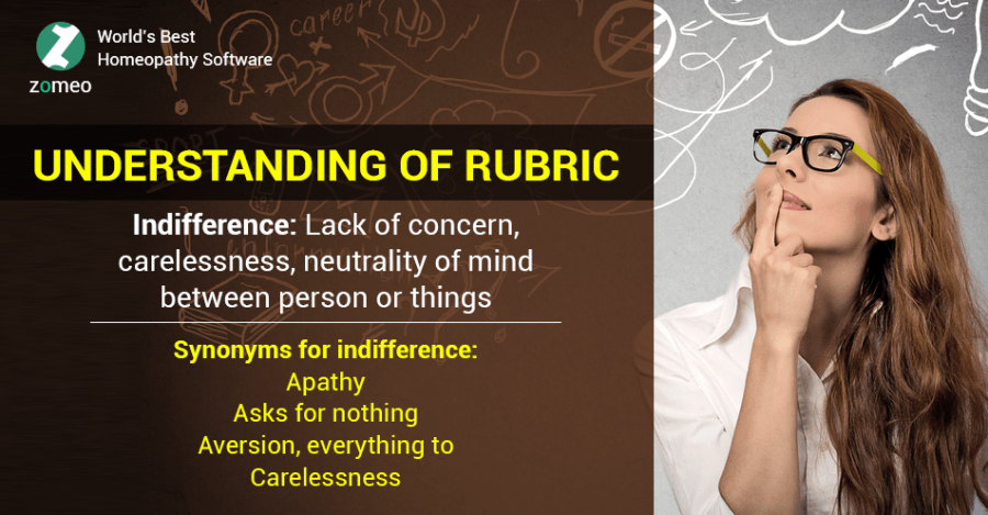 Understanding of the rubric: Indifference and Important Homeopathic Remedies