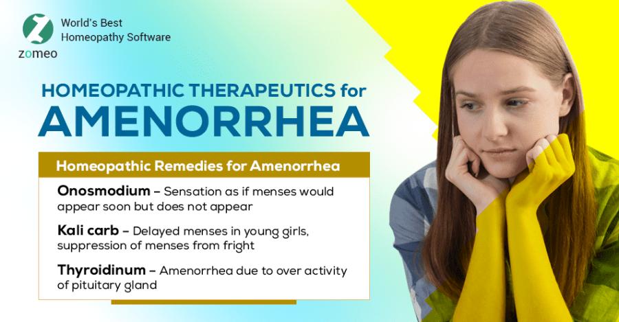 Homeopathic Therapeutics for Amenorrhea