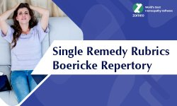 Single Remedy Rubrics Boericke Repertory