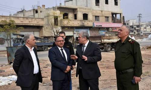 جولة رئيس مجلس مدينة حمص مع محافظ حمص على حي المهاجرين