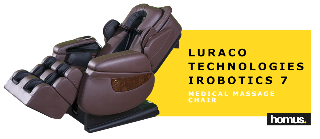 Luraco Technologies iRobotics 7 Medical Massage Chair, Chocolate Brown