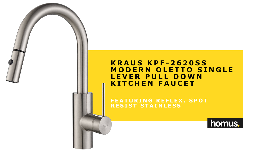 Kraus KPF-2620SS Modern Oletto Single Lever Pull Down Kitchen Faucet