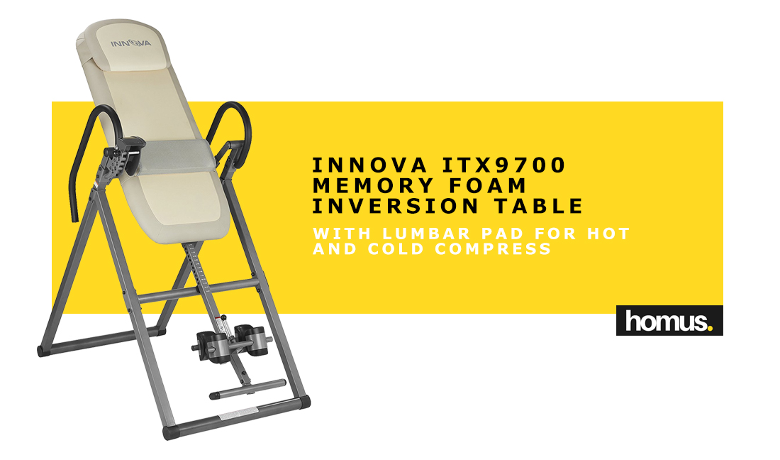 Innova ITX9700 Memory Foam Inversion Table with Lumbar Pad for Hot and Cold Compress copy