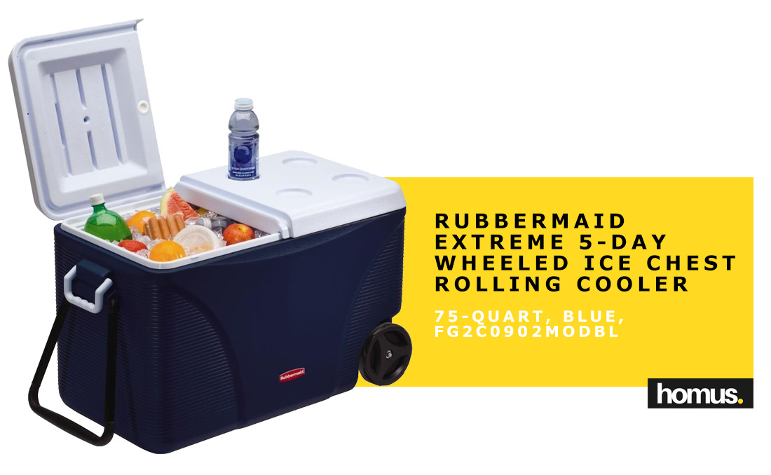 Rubbermaid Extreme 5-Day Wheeled Ice Chest Rolling Cooler
