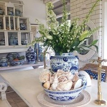 Inspiring Blue And White Kitchen Color Ideas 16