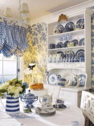 Inspiring Blue And White Kitchen Color Ideas 27