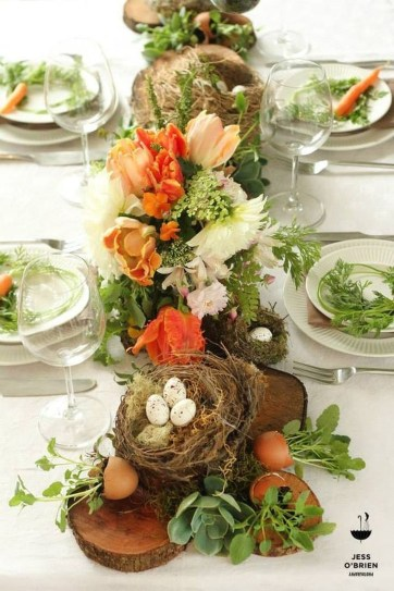 Amazing Bright And Colorful Easter Table Decoration Ideas 22