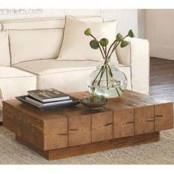 Awesome Wooden Coffee Table Design Ideas 32