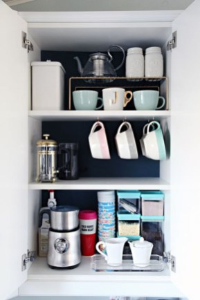 Great Coffee Cabinet Organization Ideas 09