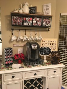 Great Coffee Cabinet Organization Ideas 23