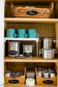 Great Coffee Cabinet Organization Ideas 38