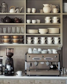 Great Coffee Cabinet Organization Ideas 41