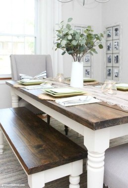 Perfect Farmhouse Dining Table Design Ideas 36