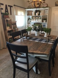 Perfect Farmhouse Dining Table Design Ideas 42
