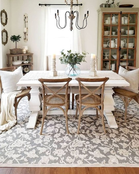Perfect Farmhouse Dining Table Design Ideas 45