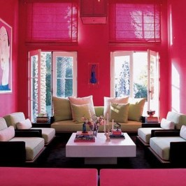 Sweet Living Room Decor Ideas With Red Color For Valentines Day 10