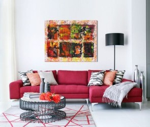Sweet Living Room Decor Ideas With Red Color For Valentines Day 22