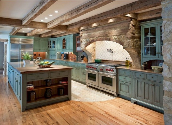 Totally Inspiring Farmhouse Kitchen Design Ideas 45