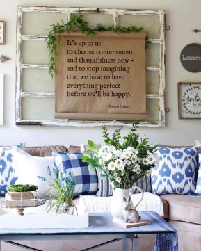 Affordable Blue And White Home Decor Ideas Best For Spring Time 43