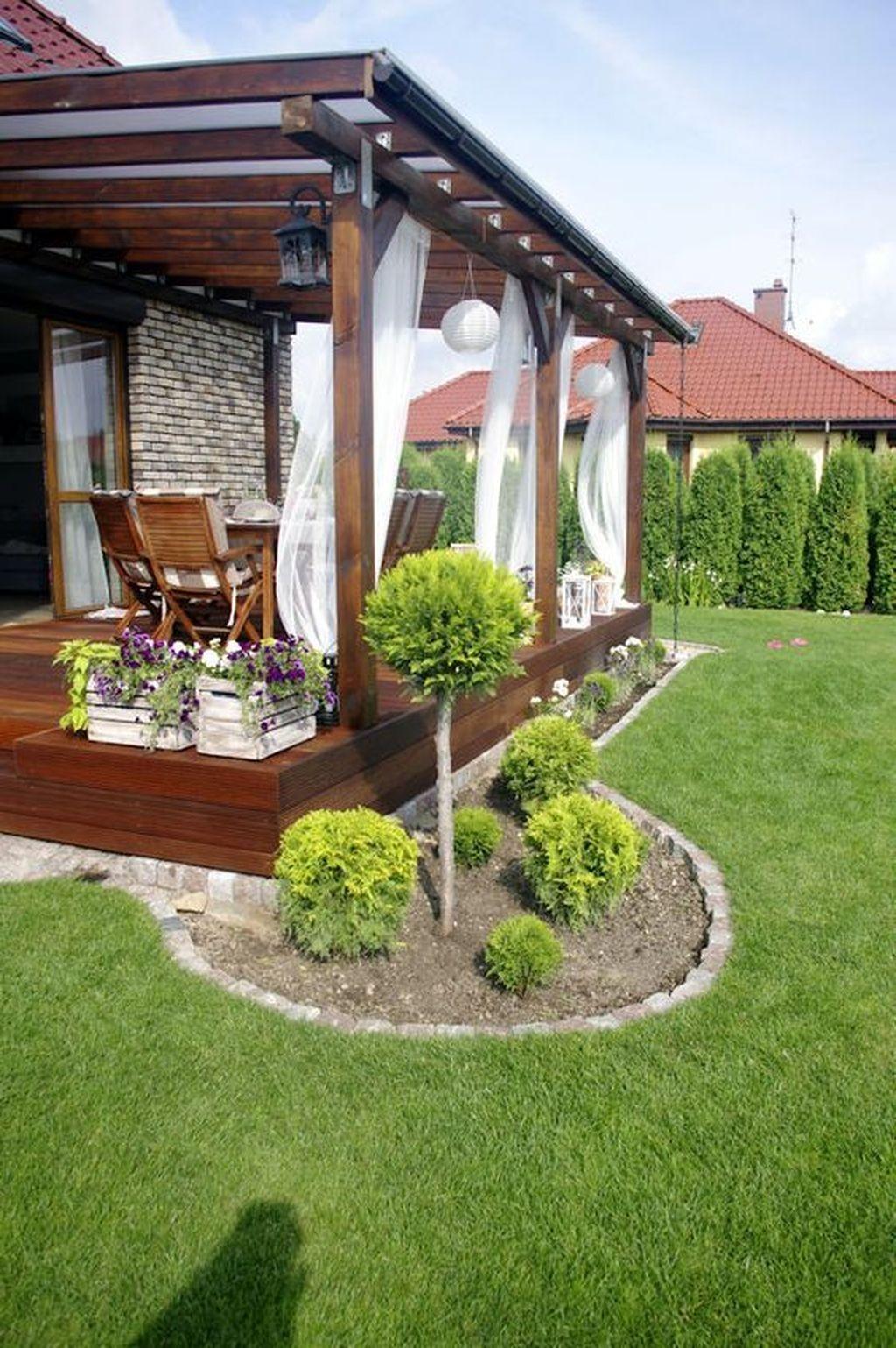 Popular Small Backyard Patio Design Ideas 35 - HOMYHOMEE on Patio Cover Ideas For Small Backyards id=21863
