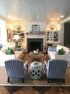 The Best Coastal Theme Living Room Decor Ideas 39
