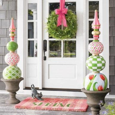 Best Easter Front Porch Decor Ideas 02